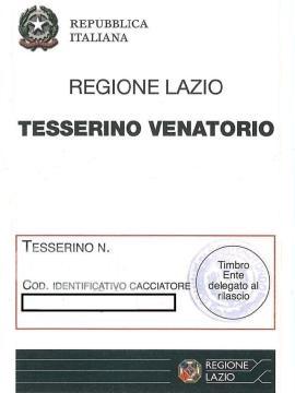 Calendario Venatorio Lazio 2020 2020.Consegna Tesserini Venatori 2019 2020 Istituzione